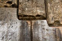 Vista della parete di Sacsayhuaman, in Cuzco, il Perù. Immagine Stock Libera da Diritti