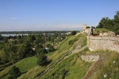 Vista della parete della fortezza della fortezza di Kalemegdan, Belgrado serbia immagine stock