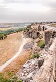 Vista della parete storica nella regione di Sur, Diyarbakir, Turchia immagine stock