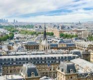 Vista della parte nordoccidentale di Parigi dalla cattedrale Notre-Dame Fotografia Stock