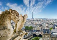 Vista della parte occidentale di Parigi dalla cattedrale Notre-Dame Immagine Stock