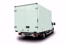 Vista della parte posteriore del furgone di consegna Immagine Stock Libera da Diritti