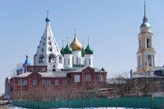 Vista della parte storica della città di Kolomna, regione di Mosca Fotografie Stock Libere da Diritti
