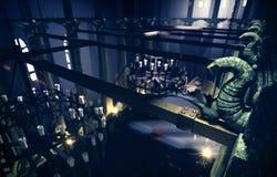 Vista della parte superiore del corridoio del trono Immagine Stock Libera da Diritti
