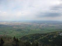 Vista della pianura dell'Alsazia Fotografie Stock