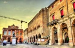 Vista della piazza Cavour a Rimini Fotografia Stock