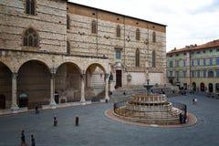 Vista della piazza IV Novembre, Perugia Fotografia Stock