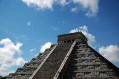 Vista della piramide Mayan antica Fotografia Stock