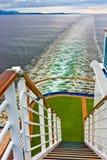 Vista della poppa della nave da crociera fotografie stock libere da diritti