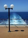 Vista della poppa della nave da crociera del passeggero fotografia stock libera da diritti