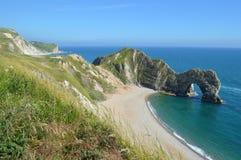 Vista della porta Dorset Inghilterra di Durdle Fotografie Stock