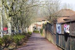 Vista della primavera ad area della cenere da due miglia in Milton Keynes, Inghilterra fotografia stock libera da diritti