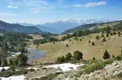 Vista della primavera della valle di Madriu-Perafita-Claror Fotografia Stock Libera da Diritti