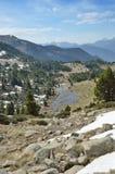 Vista della primavera della valle di Madriu-Perafita-Claror Immagine Stock