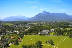Vista della provincia di Salisburgo Immagine Stock Libera da Diritti