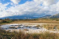 Vista della riserva Solila un giorno di inverno montenegro Fotografia Stock