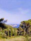 Vista della riva di mare di Costa Brava Fotografie Stock Libere da Diritti
