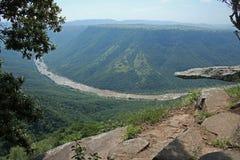 Vista della roccia del leopardo e del canyon della gola di Oribi Fotografie Stock