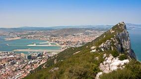 Vista della roccia di Gibilterra Fotografia Stock