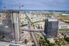 Vista della Romania - di Bucarest dalla torre del cielo Fotografia Stock