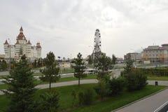 Vista della ruota panoramica nel parco di Soci Immagine Stock Libera da Diritti