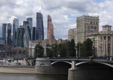 Vista della Russia Mosca sul centro urbano Fotografia Stock