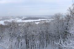 Vista della Russia, Ufa della città dalla piattaforma di osservazione Fotografie Stock Libere da Diritti
