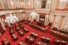 Vista della sala da riunioni del senato, Campidoglio dello stato di California fotografia stock libera da diritti