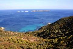 Vista della Sardegna Ariel Fotografia Stock Libera da Diritti
