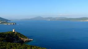 Vista della Sardegna dal capo di Caccia, Sardegna, Italia Fotografie Stock