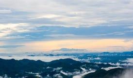 Vista della sommità della montagna di Krajom. Immagini Stock Libere da Diritti