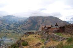 Vista della sosta Archaeological di Pisac fotografia stock