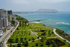 Vista della sosta di Miraflores, Lima - Perù Immagini Stock