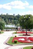 Vista della sosta di Tsaritsyno, Mosca Fotografia Stock