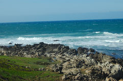 Vista della spiaggia Immagini Stock Libere da Diritti