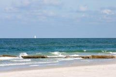 Vista della spiaggia Immagini Stock