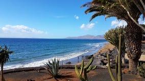 Vista della spiaggia Fotografie Stock Libere da Diritti