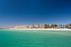 Vista della spiaggia Australia Meridionale, Adelaide, Glenelg Fotografie Stock