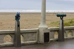 Vista della spiaggia dalla passeggiata Fotografia Stock Libera da Diritti