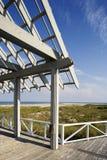 Vista della spiaggia dalla piattaforma del supporto conico Fotografia Stock