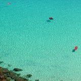 Vista della spiaggia dei conigli fotografia stock libera da diritti