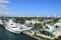 Vista della spiaggia del Fort Lauderdale Immagini Stock Libere da Diritti