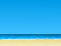 Vista della spiaggia del mare Fotografia Stock