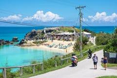 Vista della spiaggia del tabacco Fotografia Stock