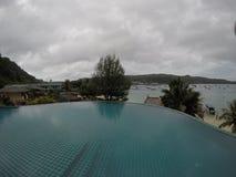 Vista della spiaggia dell'isola di Phi Phi fotografia stock libera da diritti