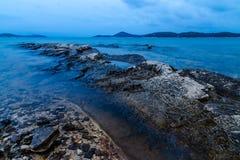 Vista della spiaggia dell'oceano Immagine Stock