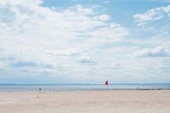 Vista della spiaggia dell'Oceano Atlantico Fotografie Stock Libere da Diritti