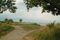 Vista della spiaggia della baia di Humber di Toronto Ontario Canada fotografie stock libere da diritti