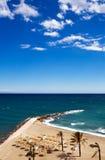 Vista della spiaggia della Costa del Sol Fotografie Stock Libere da Diritti