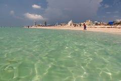 Vista della spiaggia della Florida dall'oceano Fotografia Stock Libera da Diritti